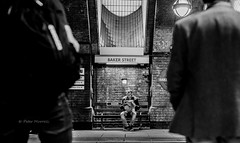 Daily Catch-Up (Peter Murrell) Tags: london newspaper reader commuter commuting londonunderground bakerstreet commuters londontransport londonstreetphotography