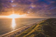 Dishoek (atroy9) Tags: sunset seascape beach landscape dunes thenetherlands zeeland northsea vlissingen walcheren drone dishoek aerail djiinspire1