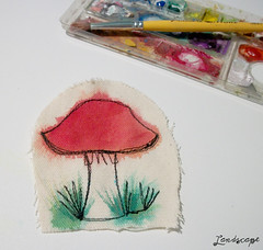 Bordado cogumelo (My Own Landscape Dreams) Tags: mushroom cogumelo freeembroidery myownlandscapedreams thasmelo