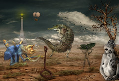 Odd (brian_stoddart) Tags: texture animals surreal fantasy