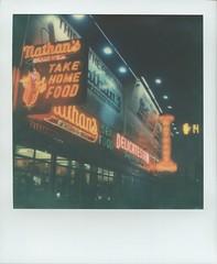 Nathans Delicatessen, at Coney Island, Brooklyn, NYC, USA (PolaWalk) Tags: nyc usa sign brooklyn coneyisland liberty hotdog neon deli nathans delicatessen roidweek roidweek2016