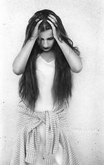 90's Grunge Style (~eriani~) Tags: blackandwhite woman film girl analogue nikonf 50mm12 kodakfilm nikkorlens monochrone filmnegative kodakplusx125 losangelesportraitphotographer erickagiulianiphotography