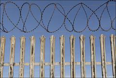 Keep Out (zolaczakl ( 2 million views, thanks everyone)) Tags: uk england southwest fence bristol barbedwire april keepout severnbeach 2016 nikond7100 photographybyjeremyfennell sigma1835mmf18dchsmlens