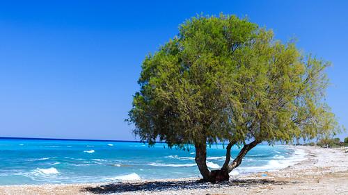Plage de la mer Egée - Rhodes