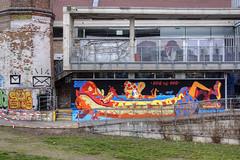Dog Eat Dog (Herbalizer) Tags: vienna wien street urban dog art wall graffiti austria österreich mural comic yok wand strasse eat the sheryo