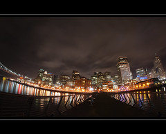 the sky moves sideways (DeCo2912) Tags: light sky night pier san francisco 7 line 8mm walimex samyang