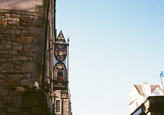 op - the witchery sign (johnnytakespictures) Tags: street classic film sign wall architecture pen scotland lomo lomography edinburgh display bricks olympus historic historical analogue halfframe ornate ornamental witchery ee3 lomographycn400