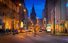 Prague by Night (@Tuomo) Tags: street city night pen evening europe czech olympus zuiko 85mm18 ep5 olympus45mmf18