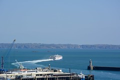 2016 Alphabet Challenge - P is for Parting (oakwoodlott) Tags: blue sea sky ferry island nikon sailing harbour guernsey channelislands departing stpeterport d7100 azchallenge nikond7100