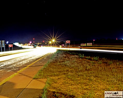 At the Fork of Light (1300 Photography) Tags: road cars night lights slowshutter interstate trafic i44