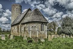 Hales St Margaret C12 Norman Church (David Baldock Photography) Tags: uk building church fuji outdoor norfolk 1855 xpro1