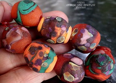 Rocks Orange Pine Amethyst Frosted (Laura Blanck Openstudio) Tags: etched orange usa green glass leaves coral set pine garden beads big bottle rocks colorful aqua glow purple handmade stones turquoise teal shapes violet lavender funky jewelry pebbles made odd lilac earthy mango faceted opaque bead bracelets amethyst organic transparent wearable nuggets murano maize lampwork beaded multicolor raku matte whimsical loose necklaces frit openstudio abstrac asymmetric ocher tumbled focals openstudiobeads