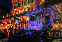 Miracle on 34th Street, Baltimore, Maryland (PhotosToArtByMike) Tags: md 34thstreet maryland baltimore christmaslights holidaylights miracleon34thstreet