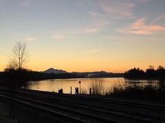 This never gets old... (Timo Juhani) Tags: sunrise bc britishcolumbia mapleridge fraserriver mountbaker haney westcoastexpress porthaney