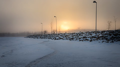 Freezing cold makes a mist over sky (tuurev) Tags: 30c