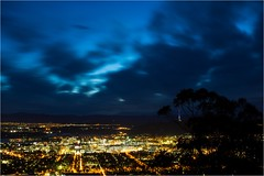 5D3_7609 (Dallas Maher) Tags: city sky color colour nature night clouds canon lights twilight scenery mt mark iii hills mount kangaroo 5d canberra lightning ainslie
