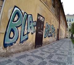 More Bla Bla Bla (Eastern Traveller) Tags: streetart grafitti prague bla mala strana