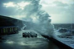 Storm Imogen at Barry Island (1) (Cariadus) Tags: storm colour film analog 35mm waves fuji barry analogue t3 expired superia400 yashica valeofglamorgan barryisland selfdeveloped c41 jobo tetenal cpe2 stormimogen