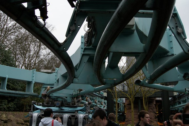 The switch-track from the end of the ride