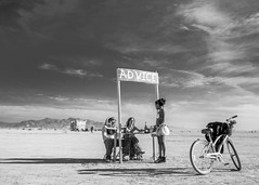 On the playa at Burning Man [Explored 2-1-16] (Eric Zumstein) Tags: burningman2015 advice playa clouds people bestcapturesaoi elitegalleryaoi aoi