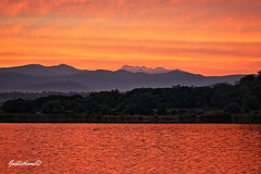 atardecer montaa y lago (guilletho) Tags: sunset lake mountains nature colors clouds canon landscape mexico afternoon paisaje laguna morelos coatetelco escenery