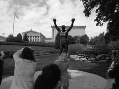 Rocky was here (nafoto!) Tags: bw philadelphia rocky boxing stallone leicadlux4