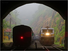 Mangala express crossing Rajyarani (Omkar Sawant) Tags: railway konkan