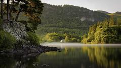Friars Crag, Derwent water (Malajusted1) Tags: friars crag cragg derwentwater keswick cumbria lakeland thelakes england mist sunrise dawn trees rocks lake reflections serene island derwent national trust district