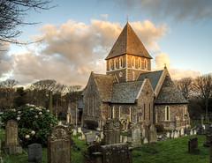 The Church on Alderney at Dawn (neilalderney123) Tags: church graveyard clouds dawn olympus sacred alderney 2016neilhoward