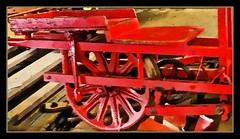 LUGGAGE/UTILITY HAULER...MN TRANSPORTION MUSEUM ST. PAUL DIGITAL ART PAINTING (strandviewphotos) Tags: red wheels trains luggage carts