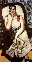Portrait of Minna Beckmann-Tube, 1930 // by Max Beckmann (mike catalonian) Tags: portrait female painting 1930s fulllength expressionism 1930 maxbeckmann