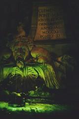 """Creepy Green Fountain Light"" (ckru) Tags: light vacation italy rome travelling green fountain night canon stillleben brunnen dslr"