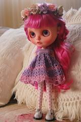 DSC_0076 (2) (Lindy Dolldreams) Tags: pink girl hair doll custom blythedoll rosezie noraooakcustomblythe