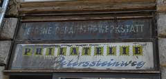 Philatelie (nebbich) Tags: shop saxony leipzig laden sachsen ddr gdr briefmarken ddrrelikte zentrumsd fassadenbeschriftung ddrspuren