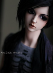 My distraction (pure_embers) Tags: uk boy portrait man ball dark photography photo doll dolls skin ns sd bjd normal resin 13 pure joint jina distraction embers migidoll migidolljina pureembers