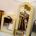Ex hotel stock cream mirror