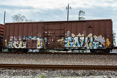 (o texano) Tags: bench graffiti texas houston trains dts sws d30 ghoul wh freights goul a2m sumoe benching defthreats