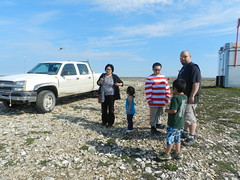 Going swimming at Long Point August 2015 07 (cambridgebayweather) Tags: swimming nunavut cambridgebay arcticocean