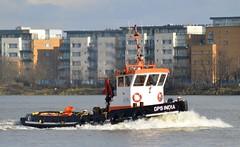 GPS India (1) @ Gallions Reach 23-02-16 (AJBC_1) Tags: uk england london boat ship unitedkingdom vessel tugboat tug riverthames eastlondon gallionsreach nikond3200 northwoolwich newham londonboroughofnewham gpsindia gpsmarine dlrblog ©ajc