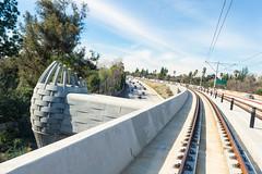Iconic Bridge, Arcadia (Metro - Los Angeles) Tags: bridge train losangeles metro testing transit freeway mta pasadena monrovia lightrail iconic goldline arcadia duarte irwindale 210 azusa sangabrielvalley measurer kinkisharyo foothillextension