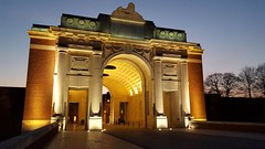 Menin gate at peace awaiting tonight's last post ceremony. (tapstick1) Tags: last post graves unknown soldiers ww1 commonwealth died ypres leper salient menin cermony