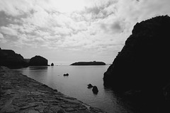 Mullion Cove, Cornwall, Black and White