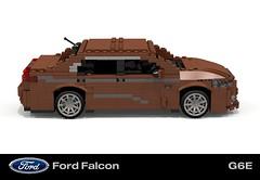 Ford FGX Falcon G6-E (lego911) Tags: auto ford car model lego render australia company turbo falcon motor g6 aussie six cad geelong fg povray moc 2014 2016 ldd miniland fgx broadmeadows g6e lego911