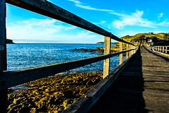 Bare Island. La Perouse (Apertite) Tags: ocean bridge sea water landscape australia laperouse bareisland