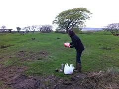 Elaine brings tea (b4ruralnorth) Tags: yorkshire lancashire jfdi cumbria spades barnstormers heroines b4rn digitalbritain ladiesofgrit