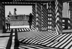 shadows (krøllx) Tags: africa light people blackandwhite bw monochrome lines museum shadows morocco marrakech dsc01214201603011