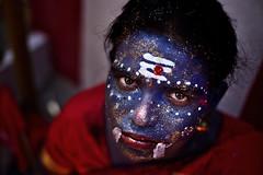 Lady with kali makeup during mayana kollai festival, Kaveripattinam. (vanila balaji) Tags: festival canon kali yearly nearkrishnagiri kaveripattinam shivarathri canon6d mayanakollai ladywithmakeup