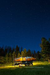 Camping - Under the Stars (RondaKimbrow) Tags: camping night stars colorado popup starcraft comet poudrecanyon tenttrailer