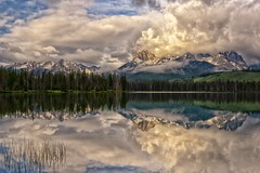 Cherish (Philip Kuntz) Tags: sunrise reflections dawn stormy idaho explore stanley daybreak earthday sawtooths sawtoothmountains littleredfishlake mtheyburn thegrandmogul earthday2016