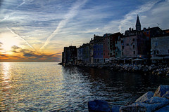 Rovinj, Croatia (David Pirmann) Tags: sunset port harbor croatia coastline rovinj hdr adriatic istria
